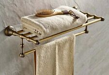 Antique Brass Bath Accessory Towel Rail Holder Storage Rack Shelf Bar aba430