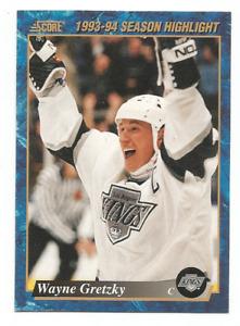 1993-94 Score Canadian #662 Wayne Gretzky Los Angeles Kings
