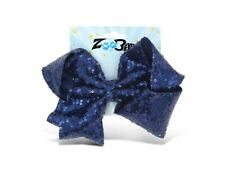 Zoo Beast Signature Collection - Giant Sparkly Navy Sequin Hair Bow on...