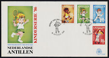 Netherlands Antilles B246-9 on FDC - Children, Sports, Tennis, Judo, Soccer