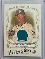 FELIX HERNANDEZ 2016 TOPPS ALLEN & GINTER GAME USED JERSEY CARD SEATTLE MARINERS