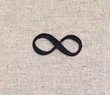 Embroidered Patch - Iron on Applique - Black - Infinity Sign
