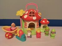 ELC Happyland Fairy Toadstool House With Snail Carriage, Stove & Figures Bundle