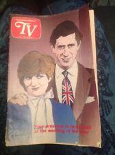 1981 MIAMI HERALD TV GUIDE ~ Royal Wedding Of princess Di And Prince Charles