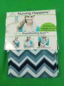 Infinity Breastfeeding Scarf - Nursing Happens by Itzy Ritzy - Grey Chevron NEW!