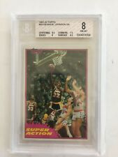 1981-82 Topps #w109 Magic Johnson SA BGS 8
