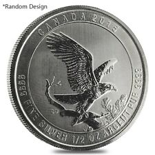 1/2 oz Silver Royal Canadian Mint Coin Random Design (Milky, Cull, Damaged)