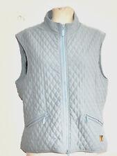 BARBOUR TAILORED l118 microfibre Women's OAKWOOD Quilt Waistcoat light blue UK 16