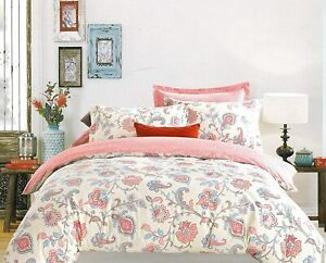 Multicolour Floral 100% Cotton Sateen King Bedsheet with 2 Pillow Covers, 180TC