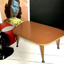 Mid century Retro petite side table with Dansette legs Teak Effect