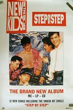 Rare New Kids On Block Step By Step 1990 Vintage Music Record Store Promo Poster