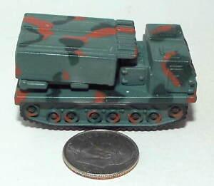 Small Mini Hot Wheels Plastic M-270 MLRS in Dark Green Camouflage