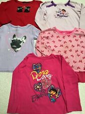 Girls 4T Tops Dora Puppies French Bulldog Scottie Place Size 4 Long Sleeve Shirt