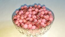 Wholesale 10MM Light Pink Gunmetal Half Plated Round Spacer Loose Bead 75pc. New