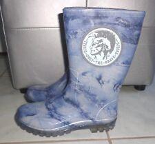 CHIC Bottes de pluie Caoutchou bleu tie and dye iroquoi DIESEL ONLY THE BRAVE 31