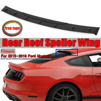 For 2015-2019 Ford Mustang Unpainted Black Tail Rear Window Roof Spoiler Wing