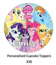 My Little Pony x30 personalizzata Cupcake Topper Wafer Commestibile Carta Nome ed Età
