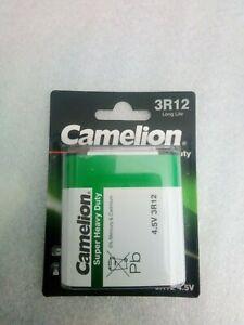 Flachbatterie 3R12 4,5V in 1er Blisterverpackung von Camelion
