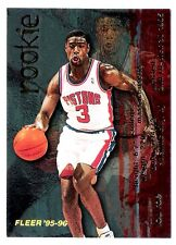 Lou Roe 1996 Fleer Detroit NBA Insert Basketball  Rookie Card