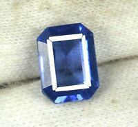 100% Natural 4.05 Ct Blue Tanzanite Loose Gemstone Emerald Cut Certified H2654