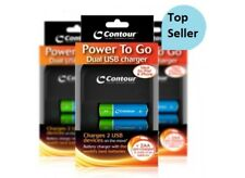 AA RECHARGEABLE BATTERIES WITH CHARGER WITH 2 USB CHARGING PORTS WITH UK POWER P