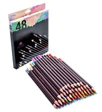 48 Professional Oil Based Colored Pencils For Artist Including Skin tone pencils