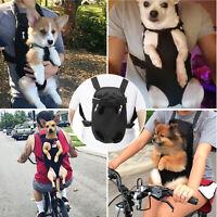 Pet Puppy Dog Cat Mesh Sling Carry Pack Backpack Carrier Travel Bag Adjustable