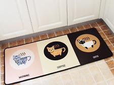 Long Rectangle, cats in the cafe, carpet door/floor mat,yoga rug,50x120cm