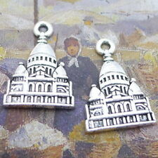 10pcs Tibetan Silver Charms Castle Building Beads Pendant DIY 16*23mm