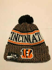 Cincinnati Bengals New Era 2018 Official Sideline Sport Knit Hat - Orange