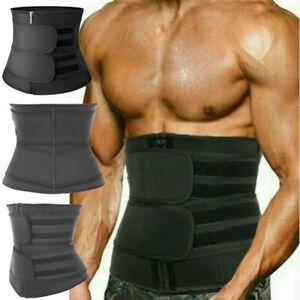 Men Waist Trainer Corset Sauna Sweat Weight Loss Body Shaper Yoga Slimmer Belt