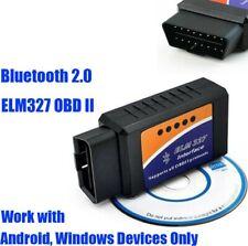 Vehicle ELM327 Code Reader Mini OBDII Bluetooth 2.0 Car Scanner Diagnostic Tool