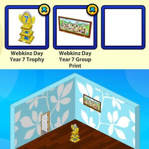 RETIRED 2012 Webkinz Day Year 7: Trophy & Group Print 2-pc Bundle