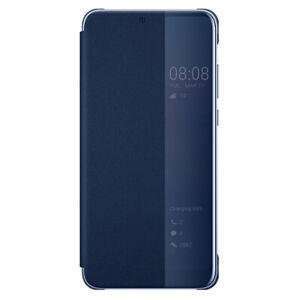 Custodia SMART VIEW FLIP COVER originale Huawei per P20 BLU finestra notifiche