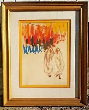ALFRED CZEREPAK ACRYLIC PAINTING ON PAPER NATIVE VEILED WOMEN-LISTED ARTIST