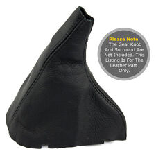 FITS VOLVO S60 2000-2010 GEAR GAITER REAL LEAHER BLACK STITCHING