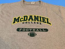 McDANIEL COLLEGE FOOTBALL LARGE NEW T-SHIRT - FREE SHIPPING!
