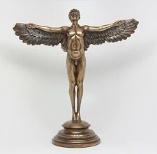 RISING DAY MALE ANGEL OPENED WINGS FIGURINE STATUE DECORATIVE COLLECTIBLE