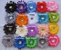 "12 Hot Pink Daisy 4"" Flower Heads Wholesale Lot silk"