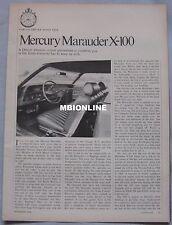 1968 Mercury Marauder X-100 Original Car and Driver magazine Road test