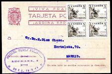 SPAIN CIVIL WAR BILBAO Censored Card 1939 VF