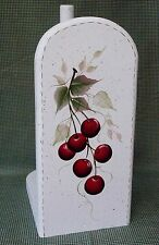 HAND PAINTED CHERRY PAPER TOWEL HOLDER/NEW ITEM BY MB CHECK IT OUT