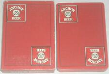Anchor Beer Red Playing Cards
