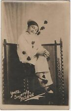 POSTCARD  ACTRESSES  Mildred as a Pierott