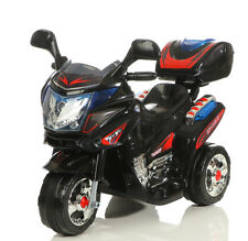 Kinder Elektrofahrzeug Elektro Akku Bike Dreirad Motorrad 8309 Schwarz