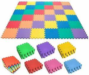 Multi-Colour 20pcs EVA Soft Rubber Foam Activity Play Tile Floor Mats 30x30cm