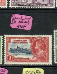 SOMALILAND (P1509B)  KGV  SILVER JUBILEE  1D  SG 86   MOG