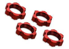 TRAXXAS 7758R XMAXX Dadi Ruota 17mm Alluminio Rossi/WHEEL NUTS  SPLINET 17mm RED