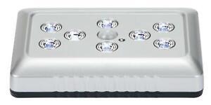 LED Lichtleiste mit Bewegungsmelder 8-LEDs Unterbauleuchte Schrankleuchte