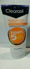 Clearasil Stubborn Acne Control 5 in 1 Weekly Scrub 5 oz, New, Expires 06/2021